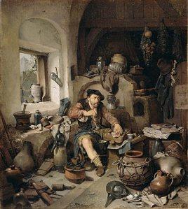 Cornelis_Pietersz._Bega_-_De_Alchemist